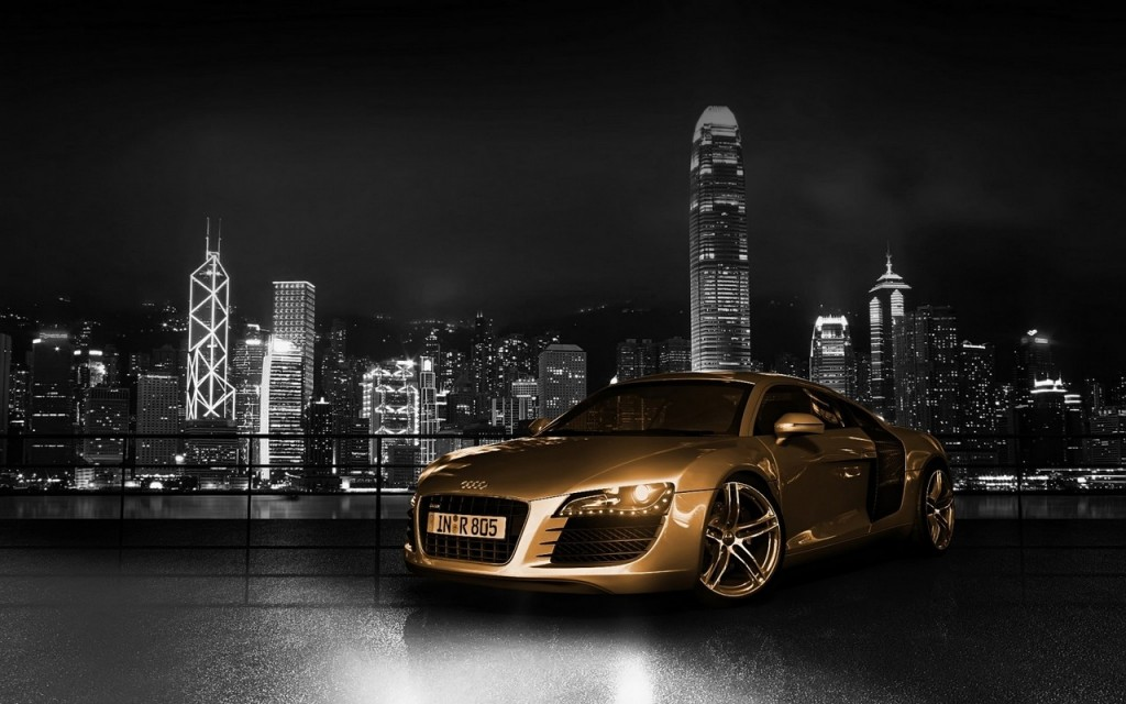 2013 Audi Car Gold Wallpaper Free Download