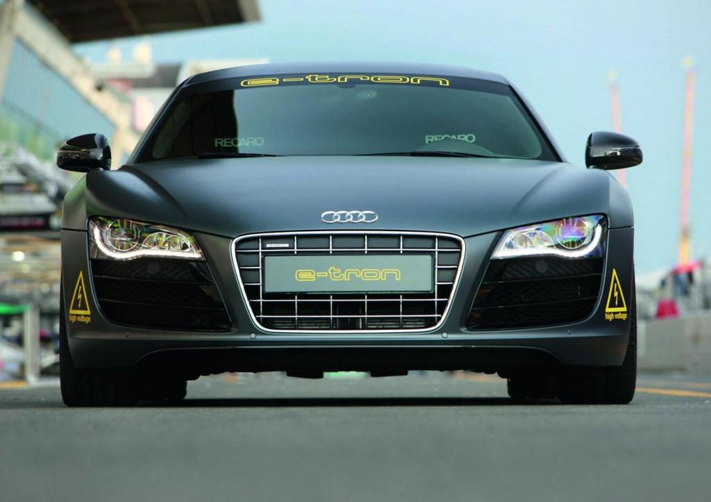 2013 Audi R8 E Tron Black HD Wallpaper
