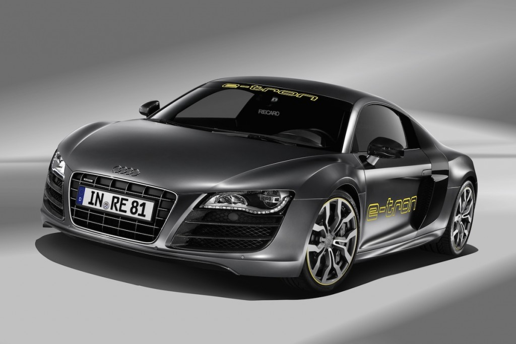 Black Audi R8 E Tron Wallpaper-1080p