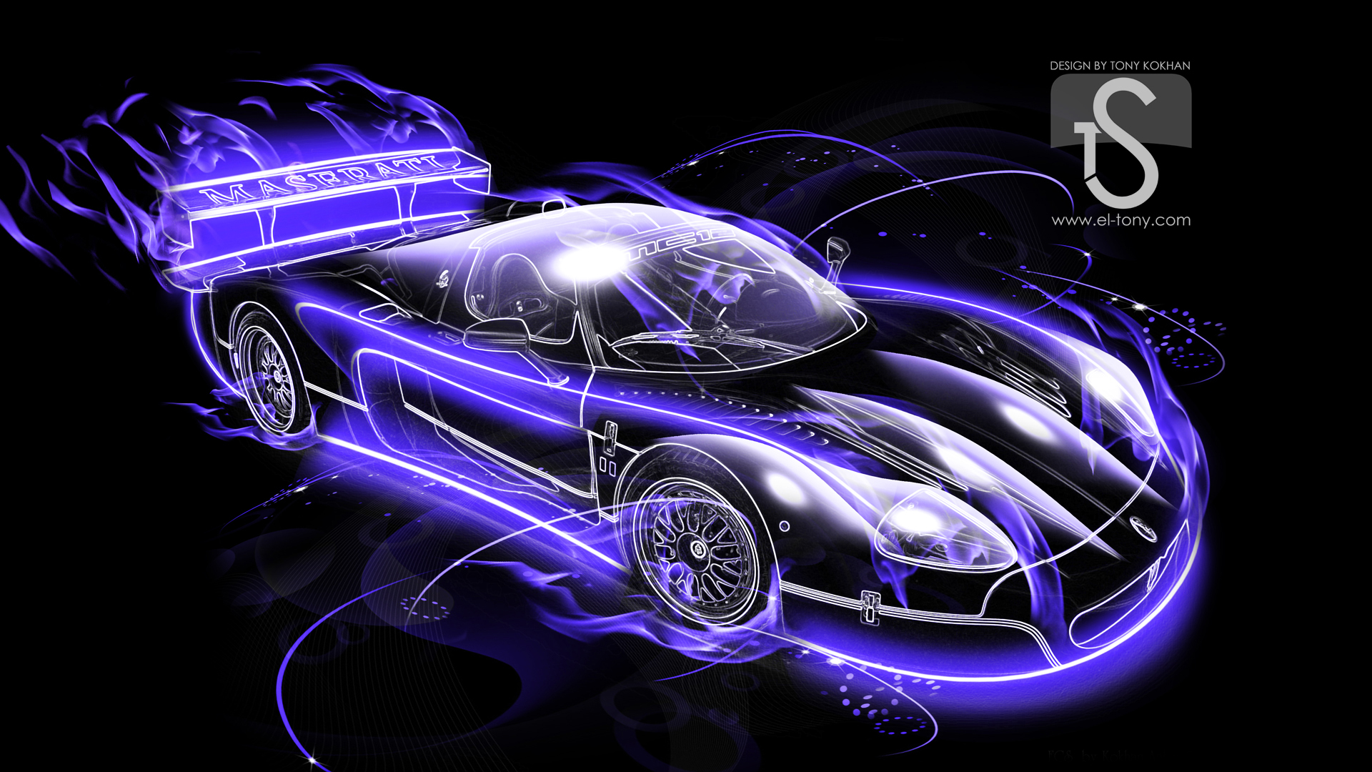 Abstract Purple Car-Wallpapers
