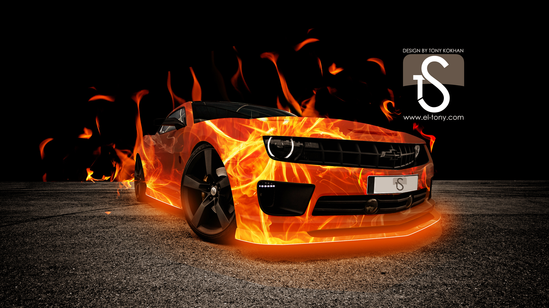 Fire Car Abstract Wallpapers 1080p
