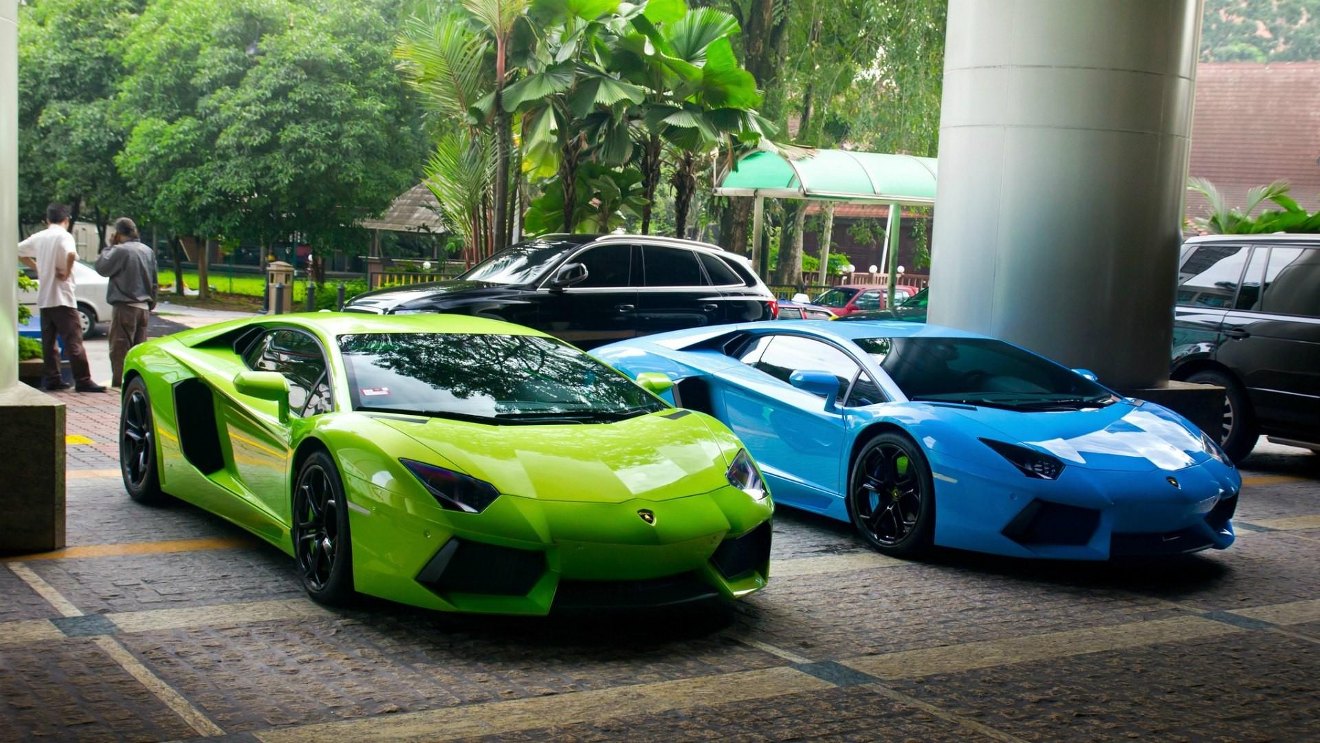 Green And Blue Lamborghini Wallpapers 1080p