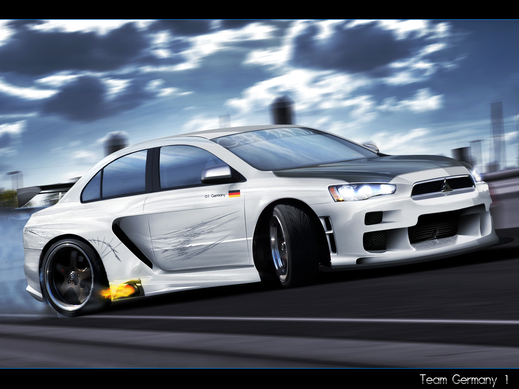 Free Download Mitsubishi Lancer Evo Race Wallpaper