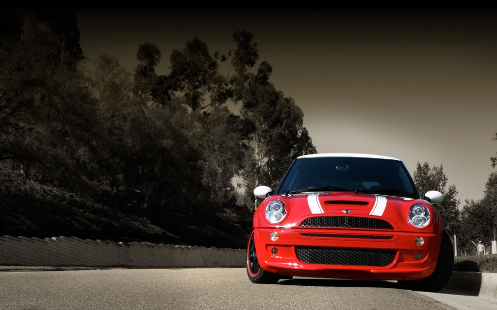2013 Red Race Mini Cooper Red Car HD wallpaper