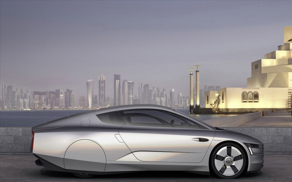 Silver Volkswagen Concept Car Hd Wallpaper