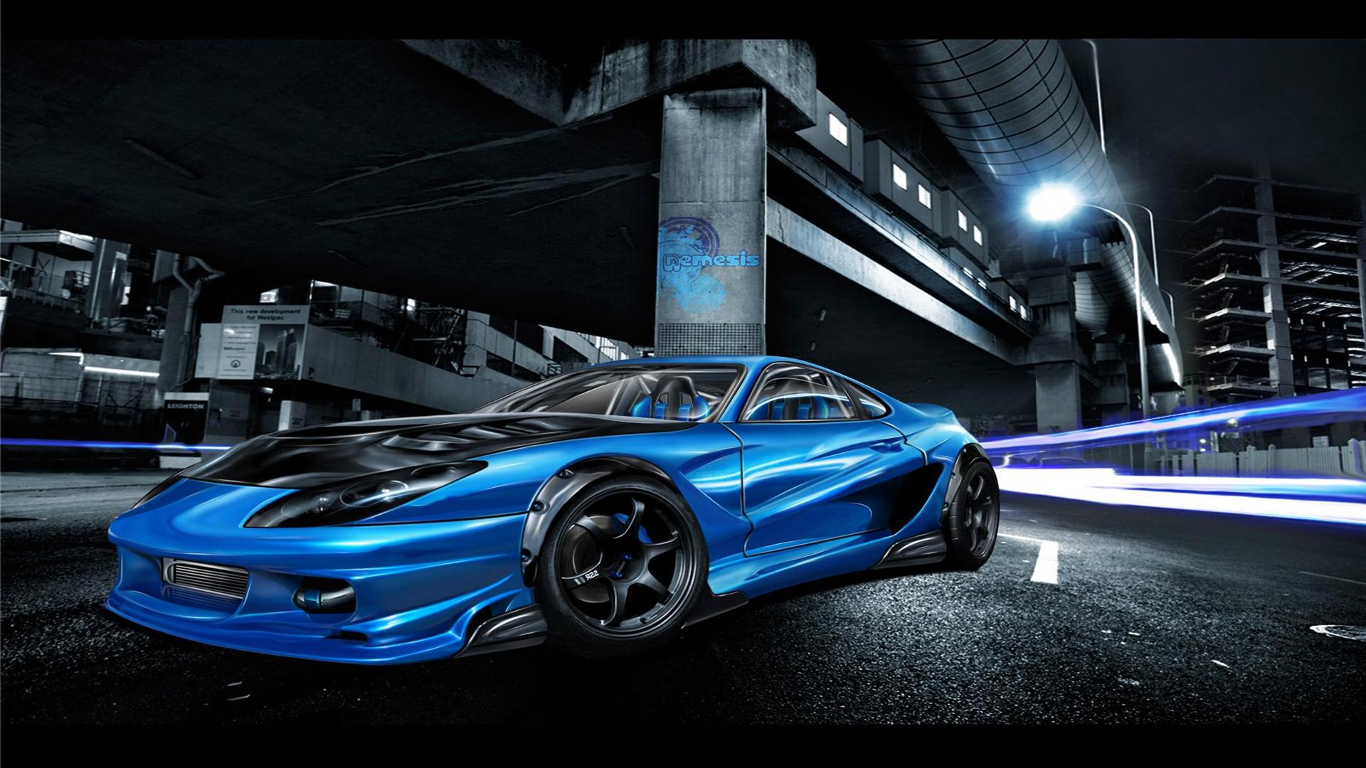Blue Toyota Supra Wallpaper-1080p - My Site