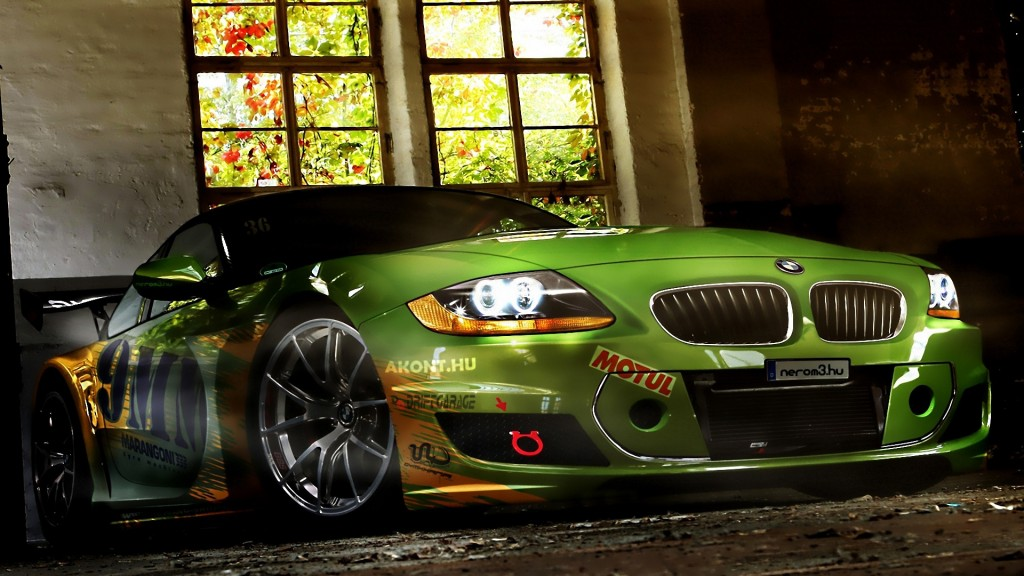 Green BMW Modification Cars HD Wallpapers