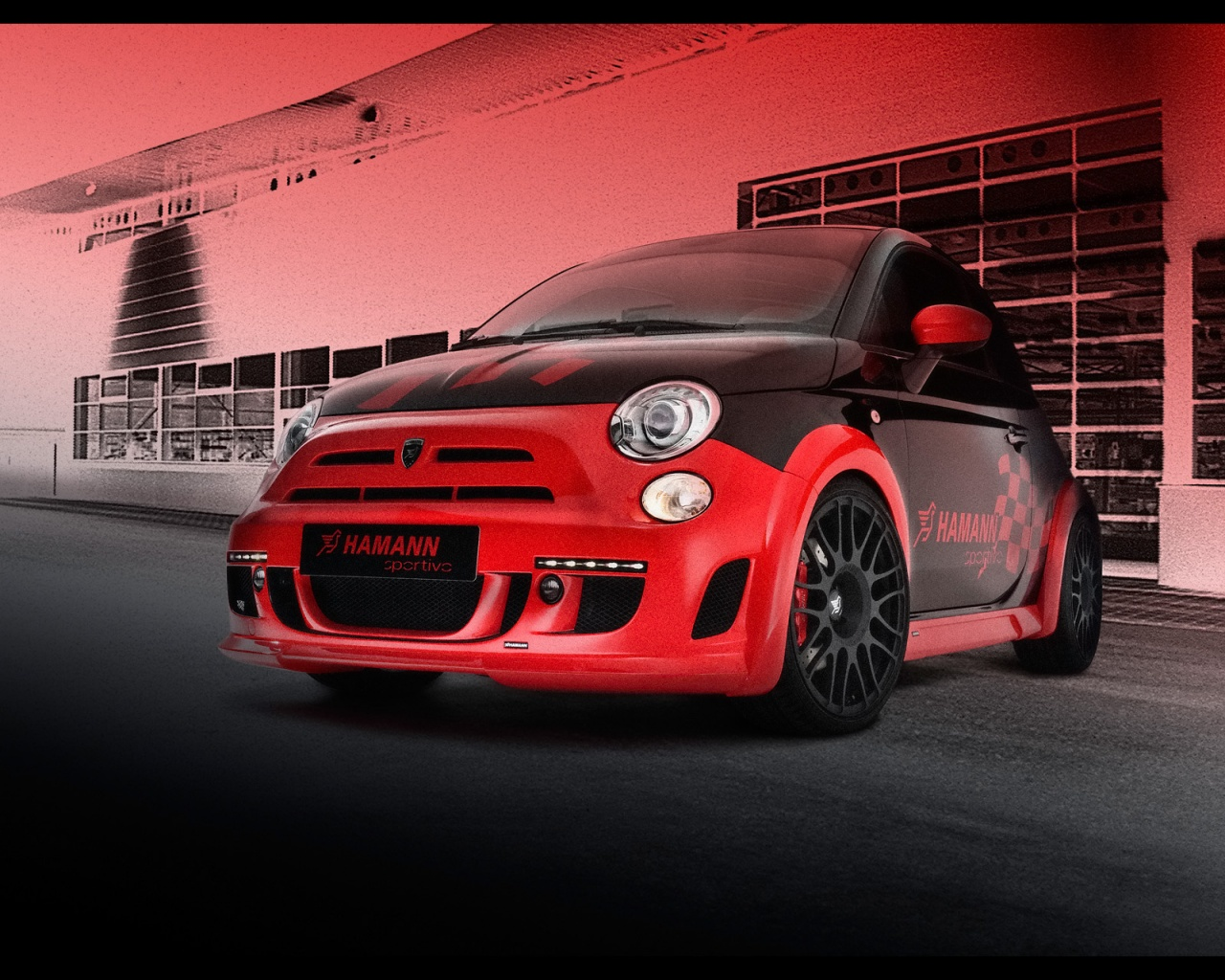 Red Abarth 500-HD Wallpapers