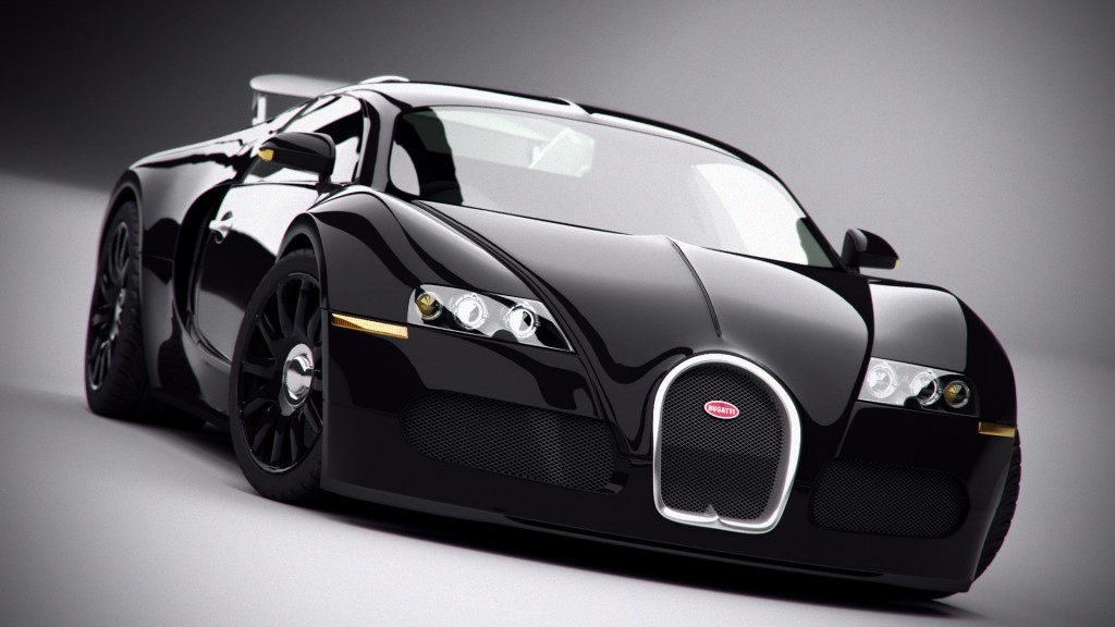 Black Bugatti Veyron 1080p Wallpapers