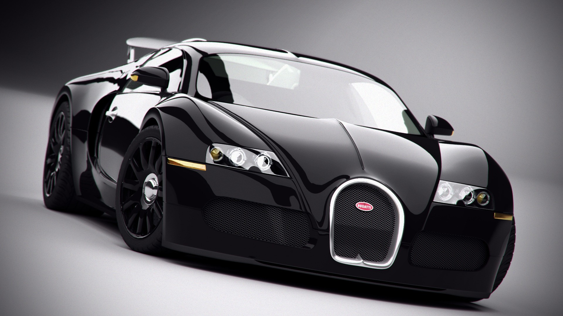 Black Range Rover Sport Wallpaper: Black Bugatti Veyron 1080p Wallpaper-For Desktop