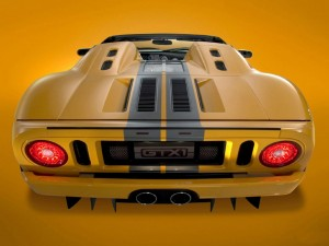 download Ford GTX1 Yellow Photo