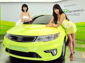 KIA Forte with Girls HD Wallpaper
