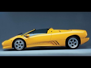 Lamborghini Diablo Roadster Yellow Wallpapers