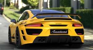 Yellow Porsche Attack Car Wallpaper for desktop