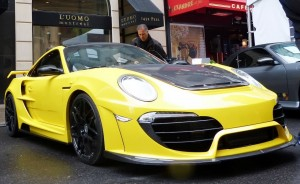Yellow Porsche Car Wallpaper for desktop