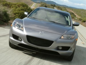 Silver mazda RX8 front HD Wallpaper