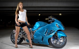 Bike and Girl HD Wallpaper In HD Resolutions