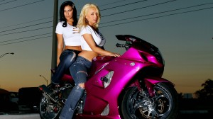 Girls And Sports Bike Pink Wallpapers In HD Resolutions