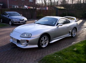Silver Supra Sports Car HD Wallpaper