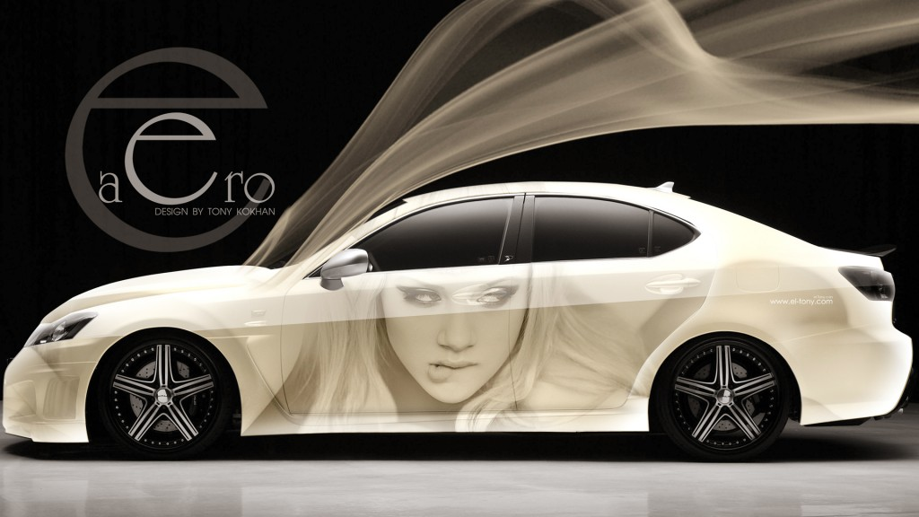 download Aero Lexus Girl Lips Car 1920x1080 HD Wallpapers