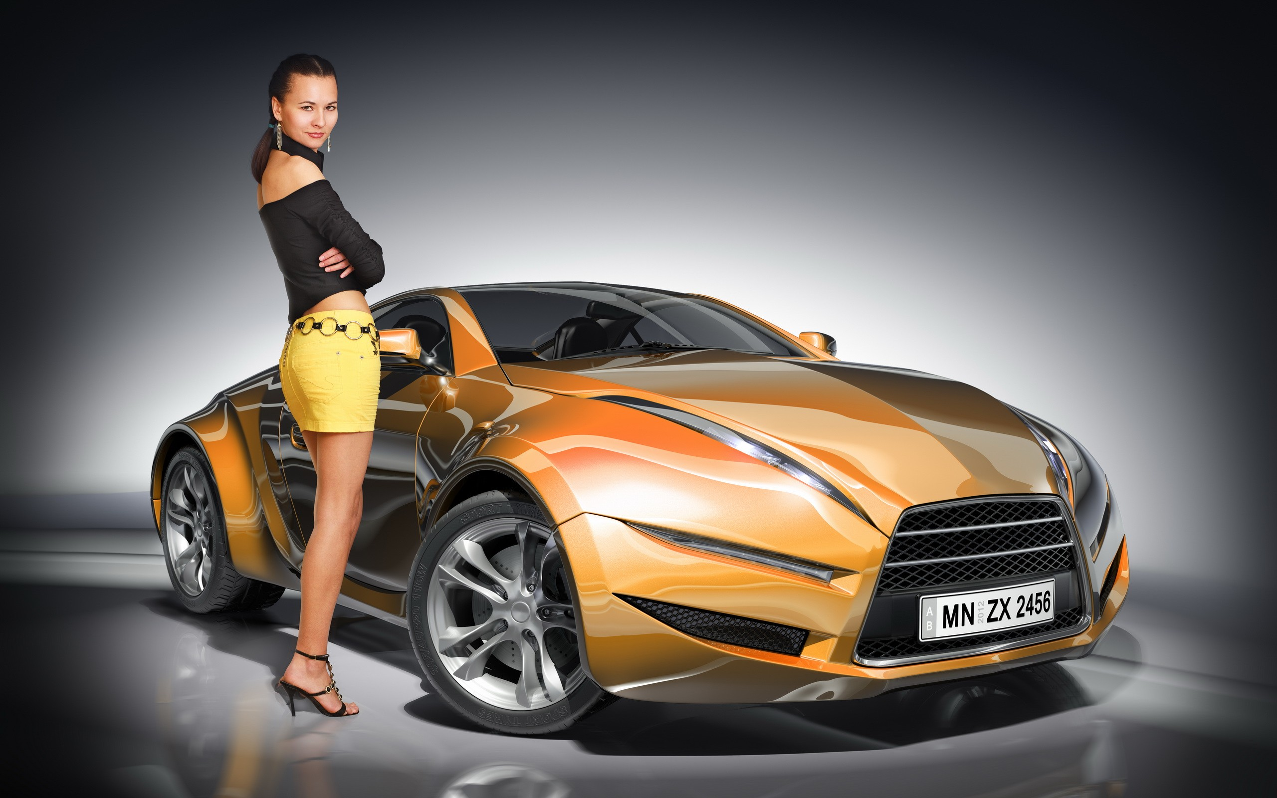 Car And Girl Wallpaper Nice Background My Site
