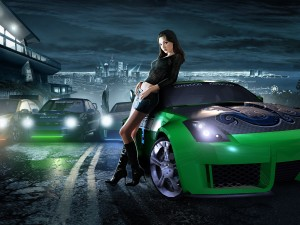 Desktop NFS Underground 2 Girls Nissan 350z HD Wallpapers Download