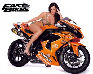 Heavy Bike & Girl HD Wallpaper Free Download