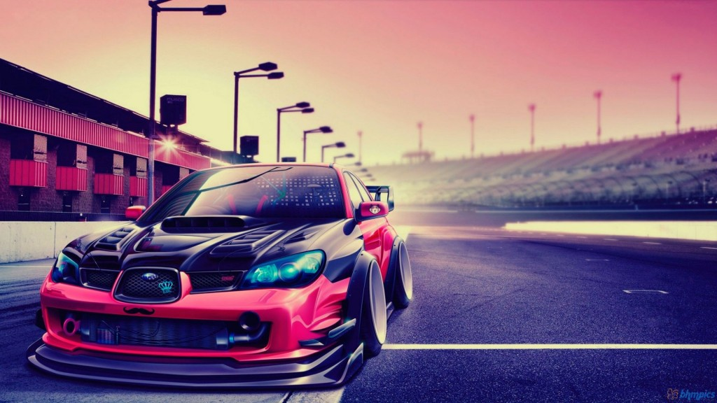 Subaru Impreza Tuning Car HD Wallpaper