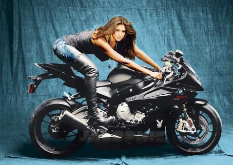 Super Bikes Girl BMW Wallpaper For Free