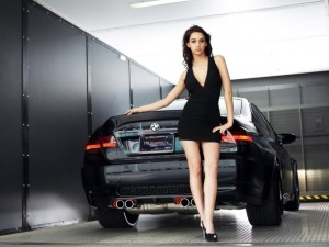 Girl With Car HD Wallpaper For free