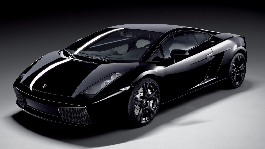 Black Lamborghini Car HD Wallpaper For Desktop